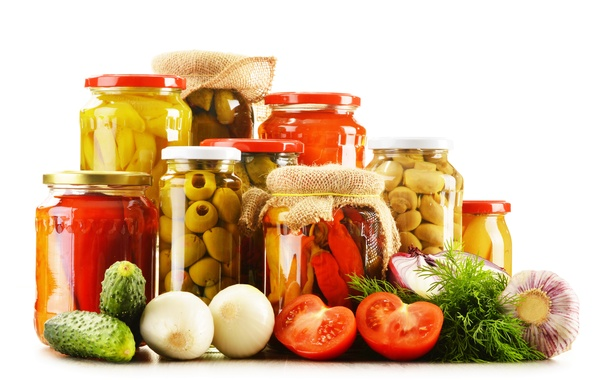 Picture mushrooms, pepper, vegetables, tomatoes, olives, cucumbers, garlic, mushrooms, tomatoes, vegetables, olive, preserving