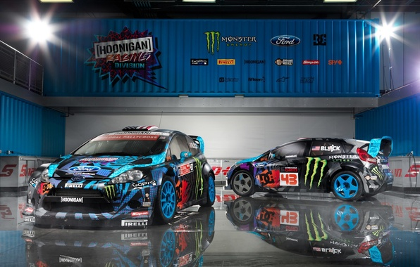 Picture ford, rally, wrc, fiesta, Ken Block, rallycross