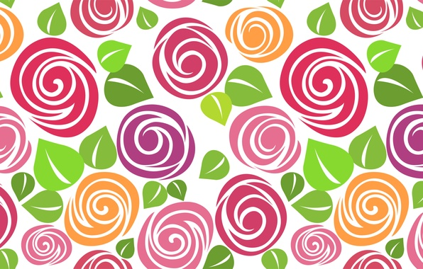 Picture figure, roses, vector, texture, art, buds