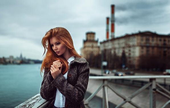 Picture pipe, background, plant, Russia, the red-haired girl, George Chernyadev, urbanization