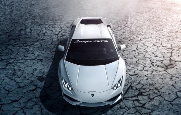 Picture Lamborghini, white, Houston, front, LP 610-4, Huracan, LB724