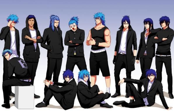 Photo wallpaper anime, art, guys, bleach, d.gray-man, one piece, fairy tail, hakuouki shinsengumi kitano, grimmjow jeagerjaques, katekyo ...