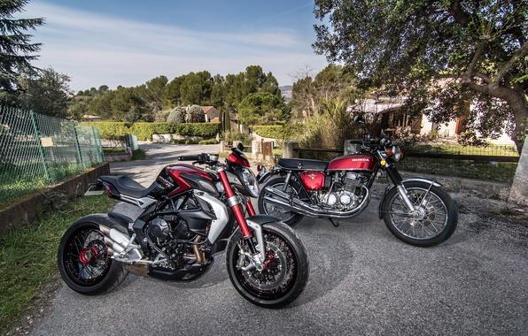 Picture retro, motorcycle, sport, honda, bike, Honda, classic, sports, MV Agusta, classic, Dragster 800 RR