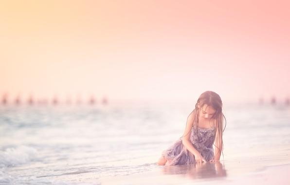 Picture beach, dress, girl, Meg Bitton