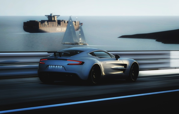 Picture Aston Martin, speed, ONE-77