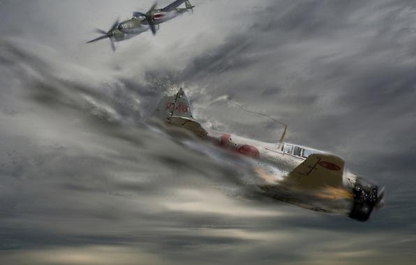 Picture war, figure, art, battle, aircraft
