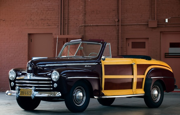 Picture car, Ford, car, classic, Super, 1948, Convertible, Deluxe, Sportsman
