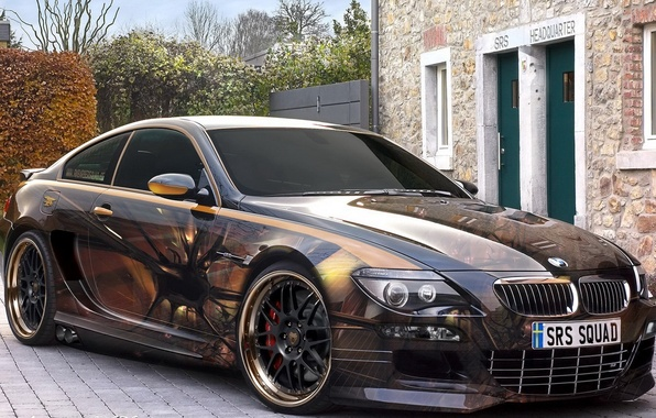 Picture figure, bmw, airbrushing