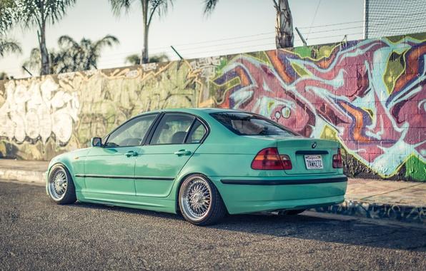 Picture graffiti, tuning, BMW, BMW, three, roadside, Drives, E46, 3 series, Stance, 325i