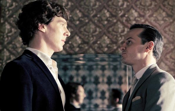 Picture look, the series, Benedict Cumberbatch, Benedict Cumberbatch, Sherlock, Sherlock, Jim Moriarty, Jim Moriarty, Andrew Scott, …