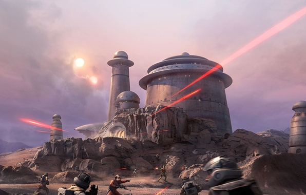 Photo wallpaper DLC, Outer Rim, Star Wars: Battlefront, EA DICE, Electronic Arts