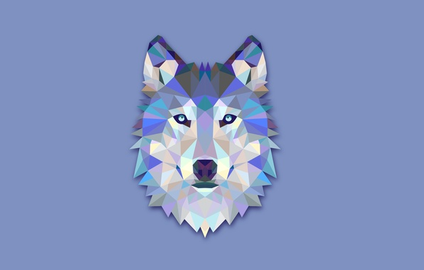 Picture abstraction, wolf, minimalism, head, light background, wolf