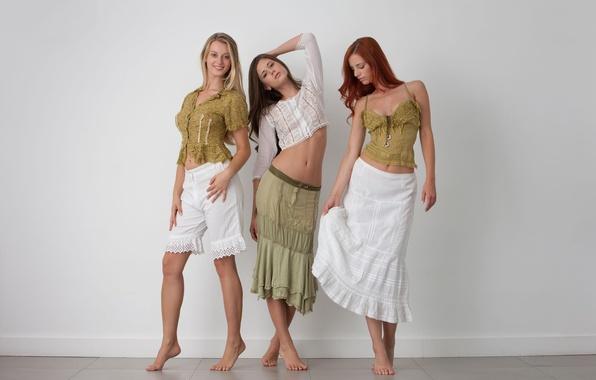 Picture blonde, red, brown hair, legs, Ariel, redhead, Little Caprice, views, Three, Piper Fawn, Gabrielle Lupin