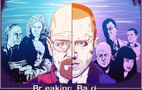 Picture Breaking Bad, Bryan Cranston, Mike Ehrmantraut, Walter White, Aaron Paul, Jonathan Banks, Giancarlo Esposito, Jesse …