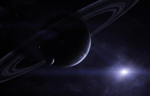 Picture star, planet, comet, satellites, gas giant, ring. asteroids, Enigma