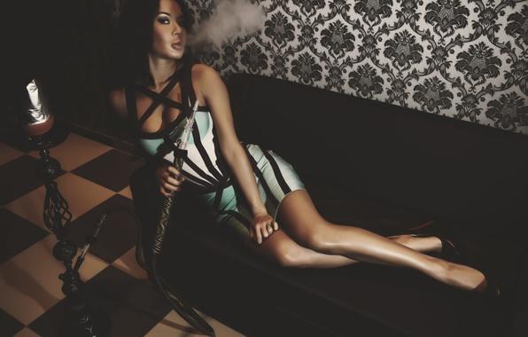 Picture girl, hookah, smoke, photographer, girl, photography, photographer, Alex Bazilev, Alexander Bazylev, Alexander Bazilev