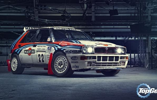 Picture Top Gear, Lancia, Delta, Martini Racing, Integrale