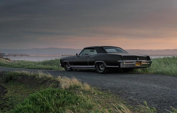Picture Car, Black, Old, Buick, Freak, Rear, Sinatra, Rivera