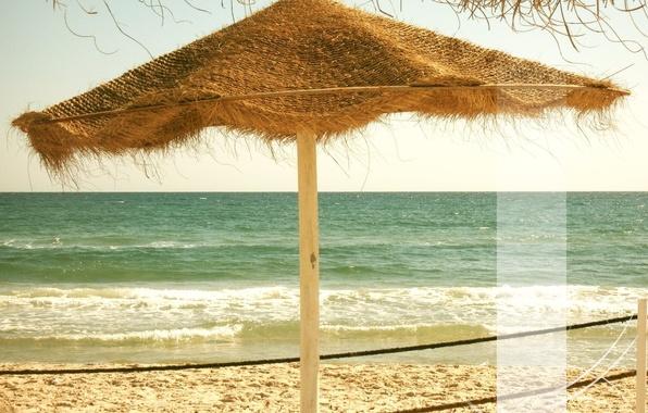 Picture sand, sea, wave, beach, foam, stay, tunesia, strip