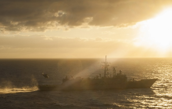 Picture sea, weapons, ship