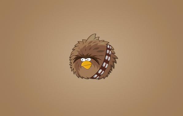 Picture bird, minimalism, star wars, star wars, Chewbacca, Angry Birds, hairy, Chewie, Chewey, Chewbacca
