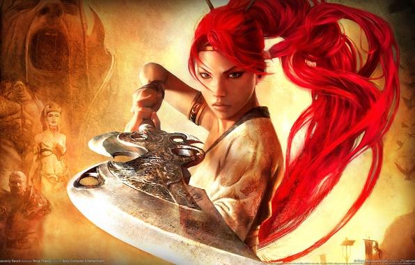 Picture girl, weapons, warrior, Heavenly Sword 2