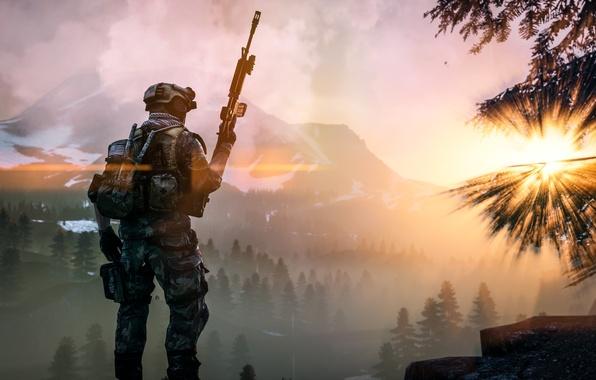 Picture landscape, weapons, soldiers, equipment, Battlefield 4