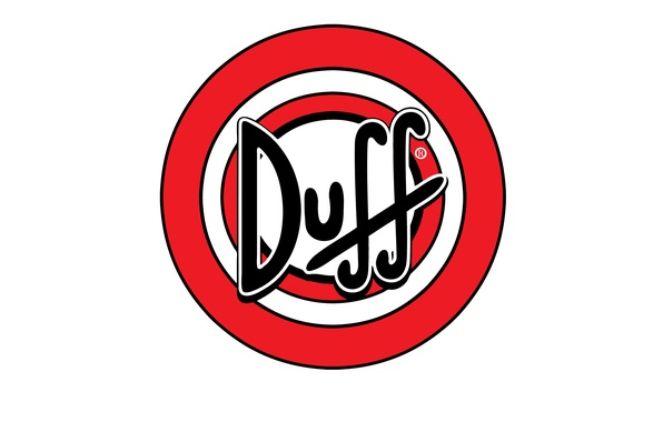 Picture logo, beer, Duff