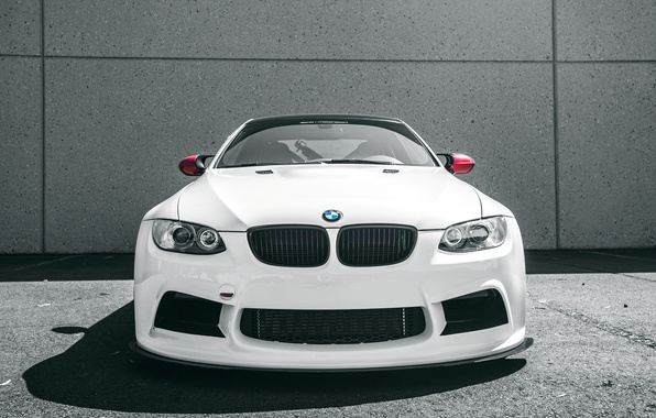 Picture background, lights, tuning, BMW, white, white, bumper, BMW M3, car