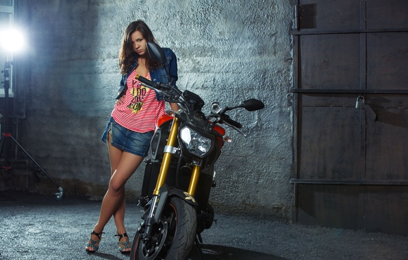 Picture motorcycle, Yamaha, Audrey