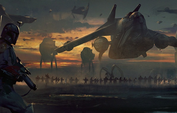Picture star wars, art, boba fett, imperial march