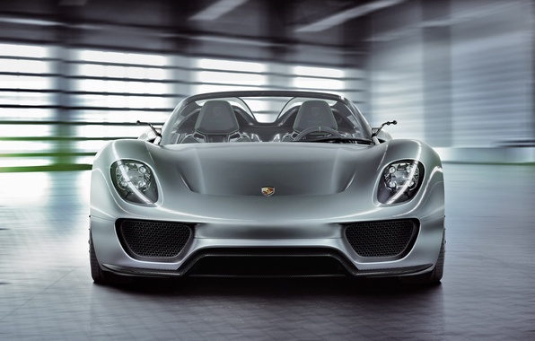 Picture Concept, lights, Porsche, the concept, front view, Spyder, 918