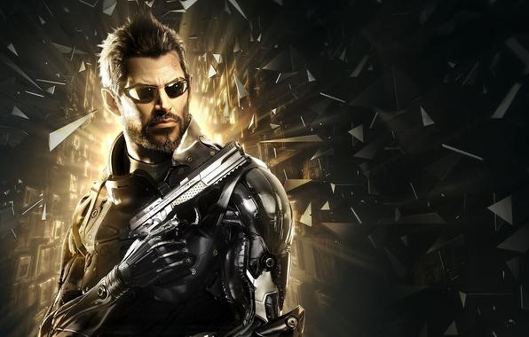 Picture Glasses, Weapons, Fragments, Beard, Deus Ex, Adam Jensen, Adam Jensen, Cyborg, Equipment, Cyberpunk, Deus Ex: …