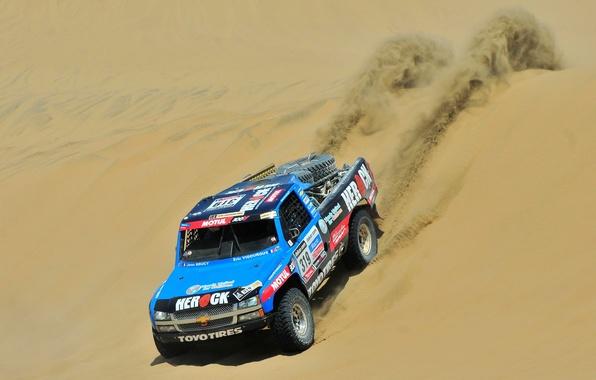 Picture Sand, Blue, Chevrolet, Desert, Chevrolet, Rally, Dakar, Dakar, Rally