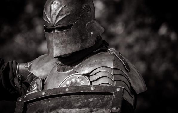 Picture metal, armor, warrior, helmet, shield