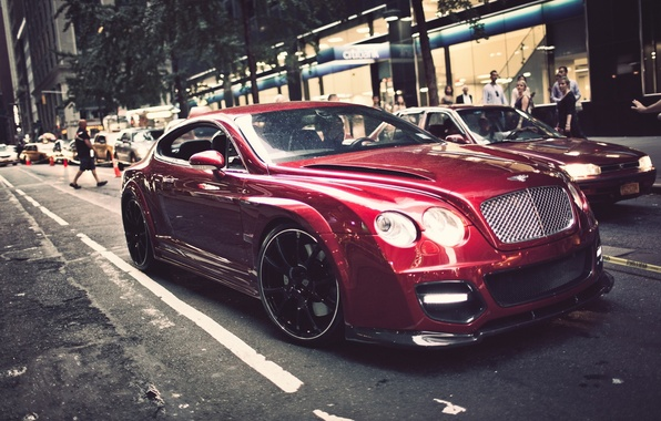 Picture city, the city, street, continental, bentley, street, Bentley, continental