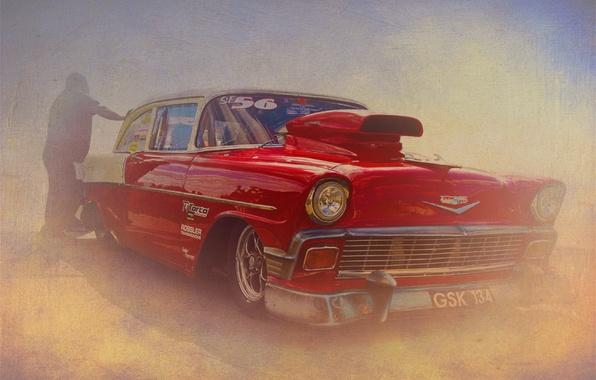 Picture retro, texture, Chevrolet, Bel Air, Chevrolet Bel Air