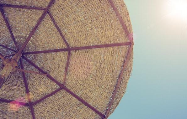 Picture sea, beach, the sun, stay, umbrella