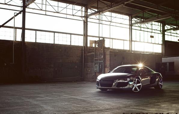Picture reflection, Audi, drives, Chrome, CW-5, Concavo Wheels, Matte Black Machined Face