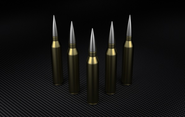 Picture rendering, weapons, steel, bullet, cartridge, render, army, the dark background, bullet, Blender, ammo, ammunition