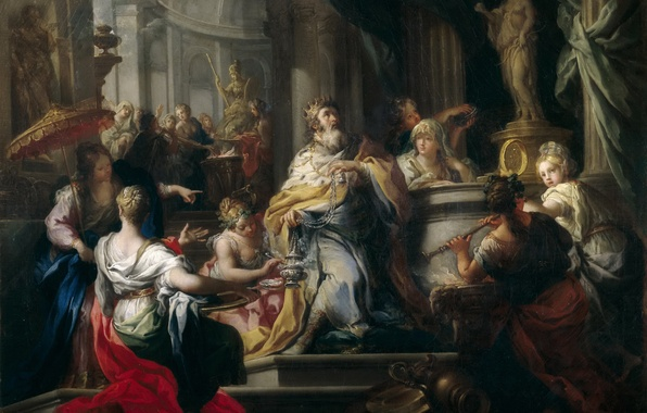 Picture picture, religion, history, mythology, Sebastiano Concha, The Idolatry Of Solomon