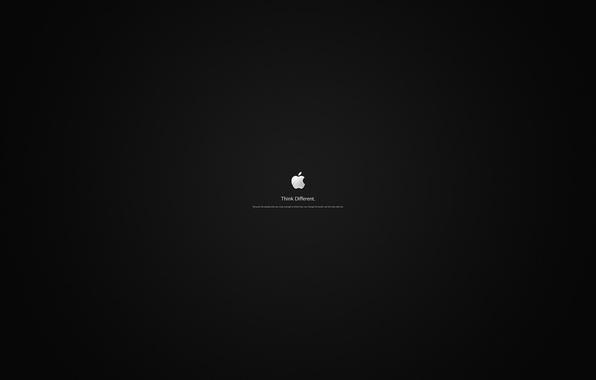 Picture apple, Apple, minimalism, logo, words