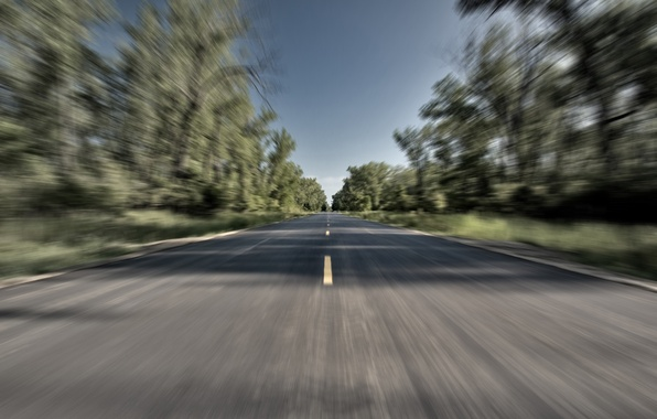 Picture road, movement, speed