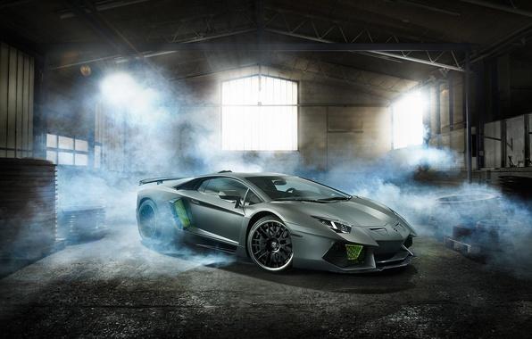 Picture Lamborghini, Green, Smoke, LP700-4, Aventador, Limited, HAMANN