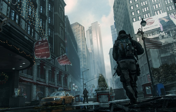 Picture the city, soldiers, USA, new York, The Division
