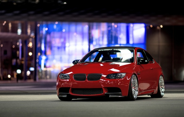Picture BMW, red, front, E92