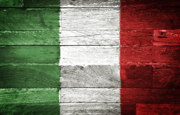 Picture red, wood, italien flag