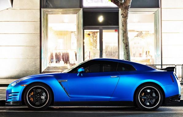 Picture GTR, Nissan, Blue, Sportcar