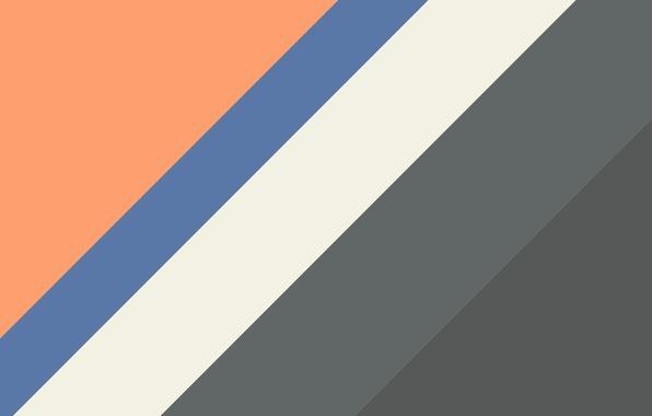 Picture line, orange, blue, grey, texture, material