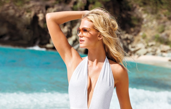 Picture chest, face, background, hair, glasses, blonde, sexy, Victoria's Secret Angels, Seki, Erin Heatherton, Erin Heatherton, …